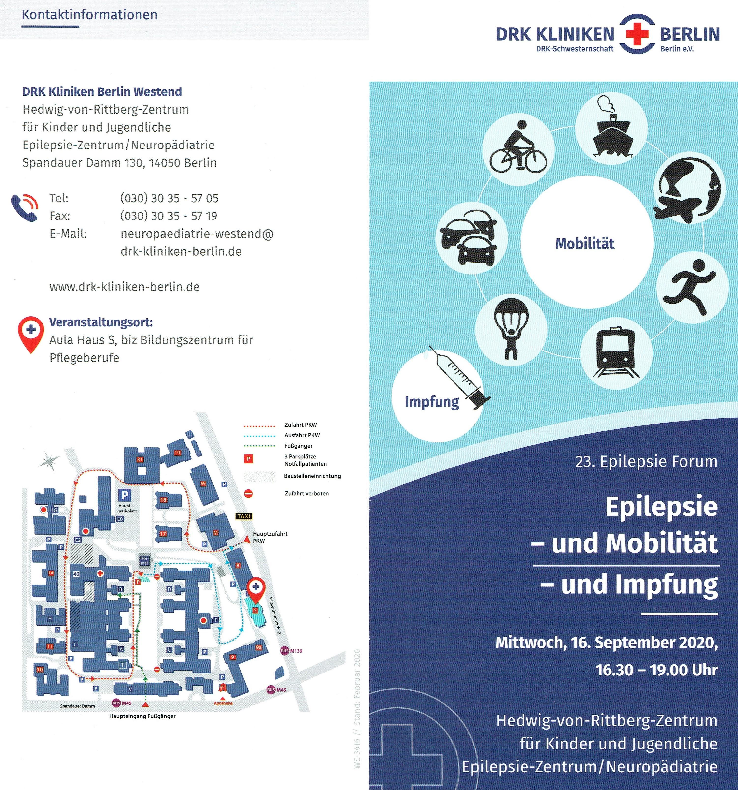 23. Epilepsieforum DRK Kliniken Berlin und Landesverband Epilepsie Berlin/Brandenburg